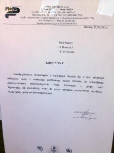 Ogłoszenie o zatruciu